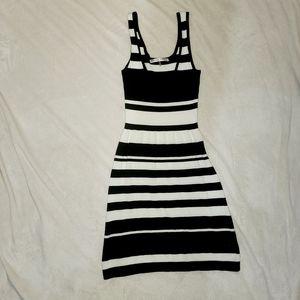 Trina Turk striped black and white dress